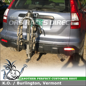 2009 Honda CRV Lightweight Aluminum Hitch Bike Carrier Using Thule 971XT Helium
