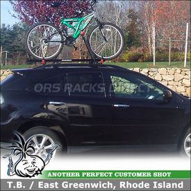 2009 Lexus RX 350 Bike Roof Rack using Yakima Raptor Aero for Factory Rack Cross Bars