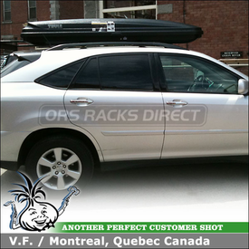 2009 Lexus RX350 Roof Box Cargo Carrier on Factory Rack