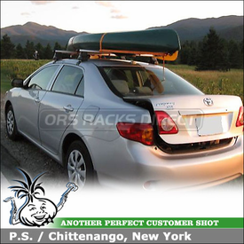2009 Toyota Corolla Roof Rack using Thule 480R Rapid Traverse Car Rack with 1515 Fit Kit