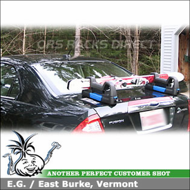 2010 Ford Fusion Hybrid Magnetic Ski Rack using Inno MV276 Magnetic Ski-Snowboard Carrier