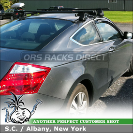 2010 Honda Accord 2-Door Car Rack Cross Rails using Thule 487 Traverse, 1559 Fit Kit, LB58 Bars and 487 SRA