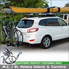Awesome 2010 Hyundai Santa Fe Hitch Bike Rack U0026 Roof Kayak Racks Using Thule 990XT  DoubleTrack,