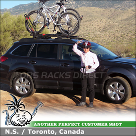 2010 Subaru Outback Roof Bike Racks for Factory Rack Crossbars