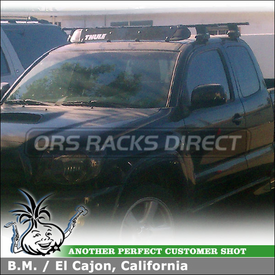 2010 Toyota Tacoma X-Runner Cab Roof Rack & Fairing using Thule 480 Traverse Foot Pack, 1511 Fit Kit, LB58 Bars, 872XT Faring