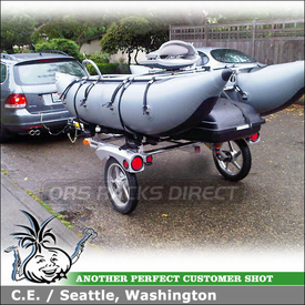 2010 VW Jetta SportWagon Tow Trailer for Fishing Pontoon Boat and Cargo Box
