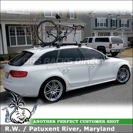 2011 Audi A4 Avant S-Line Roof Rack Bike Racks System using Yakima RailGrab Towers & CopperHead Bicycle Carriers