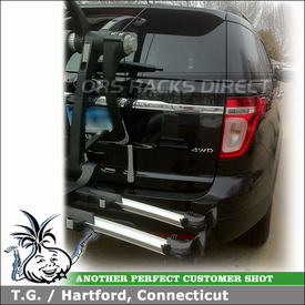 2011 Ford Explorer Back Door Bike Rack with Thule 9003 RaceWay Customer Install