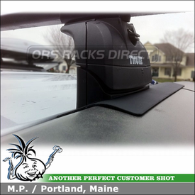 2011 Honda Element Roof Rack for Factory Installed Fixed-Points using Thule 460 Podium Foot Pack, 3109 Fit Kit & LB50 Square Bars