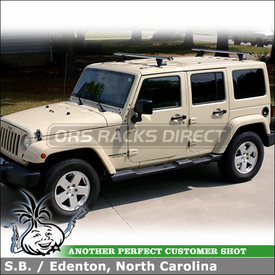 2011 Jeep Wrangler Unlimited Roof Tracks Rack System Using Thule TB60  Tracks And Whispbar T17 HD