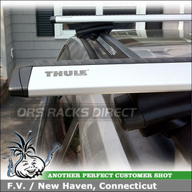 2011 Subaru Forester Roof Rack with Thule AeroBlade Customer Install