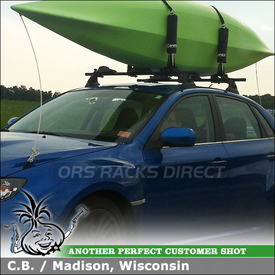 2011 Subaru Impreza WRX with Yakima Control Towers and Inno INA450 Kayak Carrier