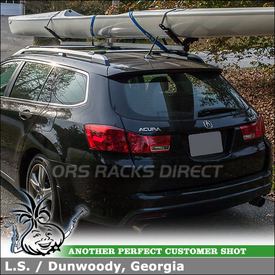 2012 Acura TSX 5-Door with Locking Cartop Rack for Carrying Boats and Surf-Ski