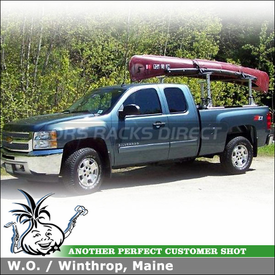 2012 Chevrolet Silverado Ext Cab Pickup Truck Rack for Canoe using Thule 422XT Xsporter