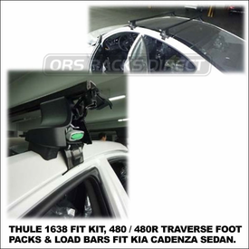2012 Kia Cadenza Roof Rack using Thule 480 Traverse (includes Foot Pack, 1638 Fit Kit & LB58 Bars)