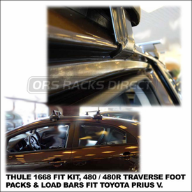 2012 Kia Rio5 Roof Rack using Thule 480 Traverse (includes Foot Pack, 1659 Fit Kit & LB50 Bars)