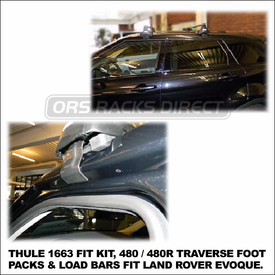 2012 Land Rover Evoque Roof Rack using Thule 480 Traverse (includes Foot Pack, 1663 Fit Kit & LB58 Bars)