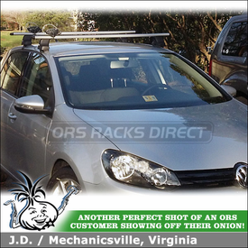 2012 VW Golf TDI Car Rack for Carrying Canoe Oars and Kayak Paddles