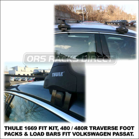 2012 VW Passat Roof Rack using Thule 480 Traverse (includes Foot Pack, 1669 Fit Kit & LB50 Bars)