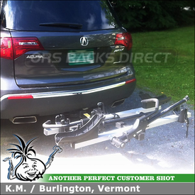 Acura MDX Platform Tray Bike Carrier for 2 Inch Trailer Hitch Using Thule 916XTR T2