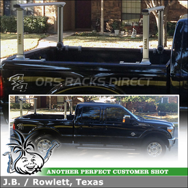 Adjustable and Locking Utility Truck Bed Rack for a 2012 Ford F-250 Pickup