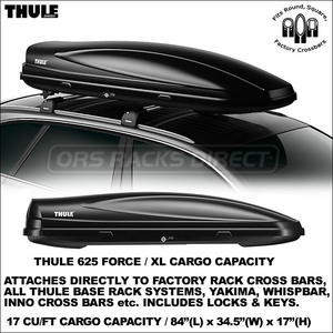 All New Waterproof, Locking Thule 625 Force XL Roof Cargo Box