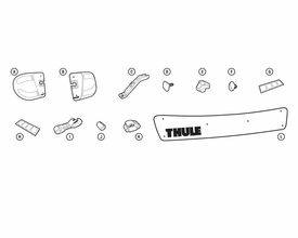 """Thule 871xt 38"""" Wind Fairing Replacement Parts"""