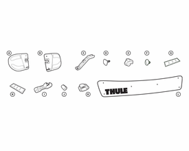 """Thule 872xt 44"""" Wind Fairing Replacement Parts"""