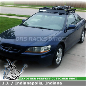 Car Rack Cross Bars, Kayak Stacker and Roof Bike Rack for 2001 Honda Accord 2DR