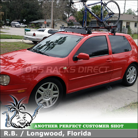 Car Rack Cross Bars, Roof Fairing and Bike Racks for 2000 VW GTI 2DR Hatchback