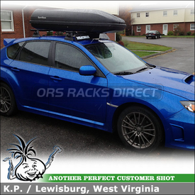 Car Rack Luggage Container for Roof Attachment Points on a 2011 Subaru Impreza WRX 5-Door