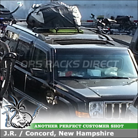 Car Rooftop Cargo-Luggage Bag for Jeep Liberty Factory Rack Cross Bars using Thule 867 Tahoe Roof Bag