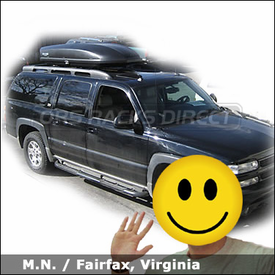 Chevrolet Suburban Z71 Cargo Roof Box with Yakima SkyBox 18 Gear Box