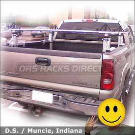 Chevy Silverado 2500 Pickup Truck Rack with Thule 421 Xsporter System