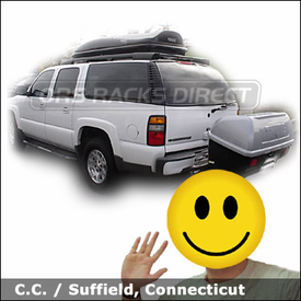 Chevy Suburban with Thule 684 Terrapin Hitch Cargo Box & Thule Roof Box