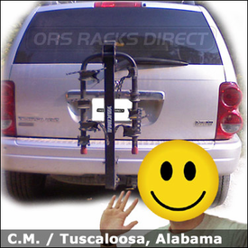 Dodge Durango Hitch Bike Rack with Yakima KingPin 4 Bicycle Hitch Mounted Carrier