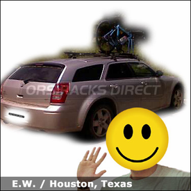 Dodge Magnum Bike Roof Rack with Yakima Q Towers and RockyMount Lariat SL