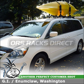 Factory Side Rail Compatible Roof Rack for Kayaks on a 2006 Honda Odyssey