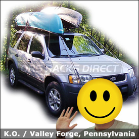 Ford Escape Car Rack for Canoes with Yakima Control Towers & Yakima Gunwale Brackets