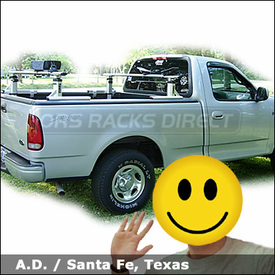 Ford F150 Kayak Truck Rack with Thule 422XT Xsporter & 883 Glide and Set