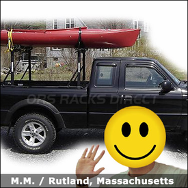 Ford Ranger Kayak Truck Rack with Yakima Outdoorsman 300 & Mako Saddles-HullyRoller Kayak Carriers