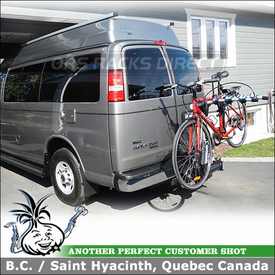 GMC Safari Camper Swing Away Hitch Bike Rack for 2 inchTrailer Hitches