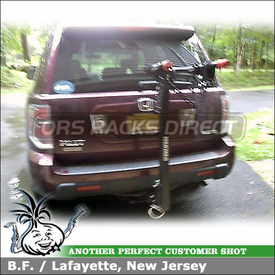Hitch Bike Rack for 2007 Honda Pilot Trailer Receiver Hitch Mount using Yakima DoubleDown 2