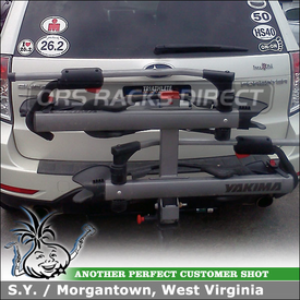 Hitch Bike Rack for 2010 Subaru Forester Trailer Hitch Receiver using Yakima Hold Up Platform Bike Rack