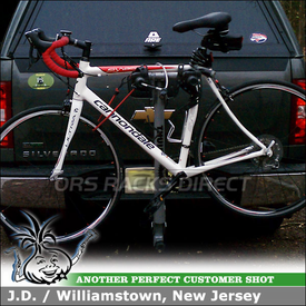 Hitch Bike Rack for 2011 Chevy Silverado Trailer Hitch Receiver using 970XT Thule Helium 2 Bike Hitch Rack