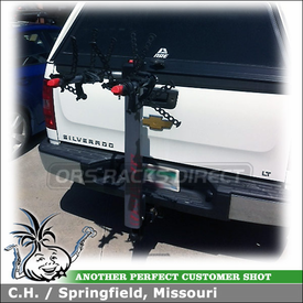 Hitch Bike Rack for 2011 Chevy Silverado Trailer Hitch Receiver using Yakima DoubleDown Ace 2 Bike Rack for Trailer Hitches