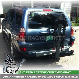 Hitch Bike Rack for Toyota 4Runner Trailer Hitch  | Yakima SwingDaddy 4 Bicycle Rear Mount Carrier