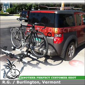 Lovely Honda Element Trailer Hitch Bike Rack, Roof Rack Cross Bars + Bike Mount  Using Thule
