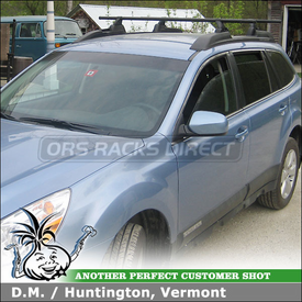 How to Convert a 2011 Subaru Factory Rack to Yakima Racks System