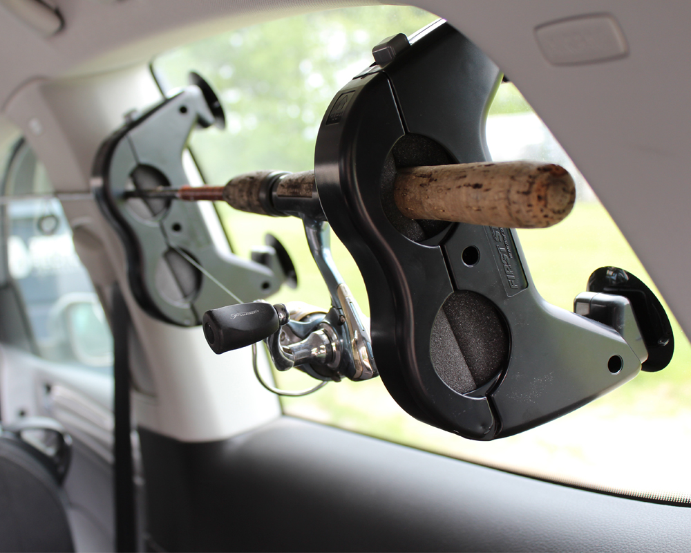 Truck bed fishing rod storage for Fishing rod holder for suv